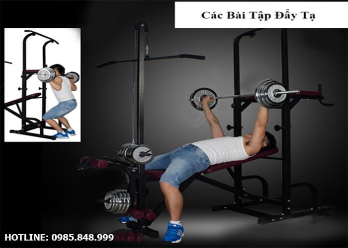 Các bài tập tăng cơ đùi, bắp tay với ghế tập tạ đa năng