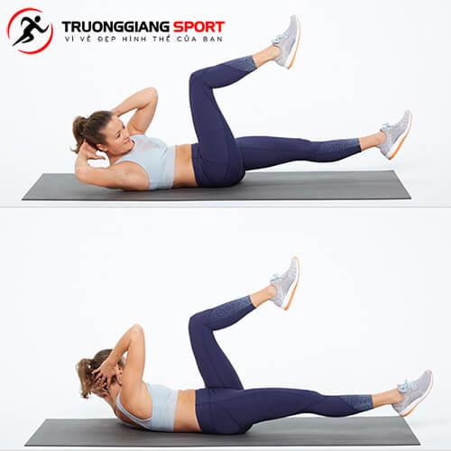Các bài tập gập bụng đúng cách giúp giảm mỡ bụng