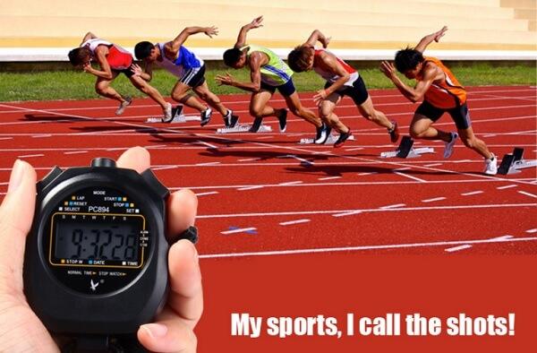 Sử dụng đồng hồ bấm giây PC894 trong thi đấu môn điền kinh