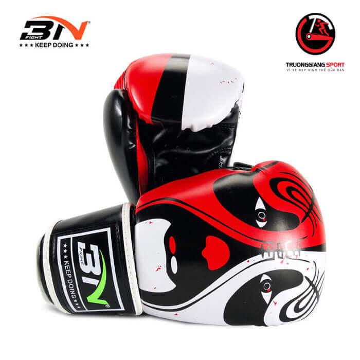 Găng tay boxing Bn new 2019 ( đỏ trắng )