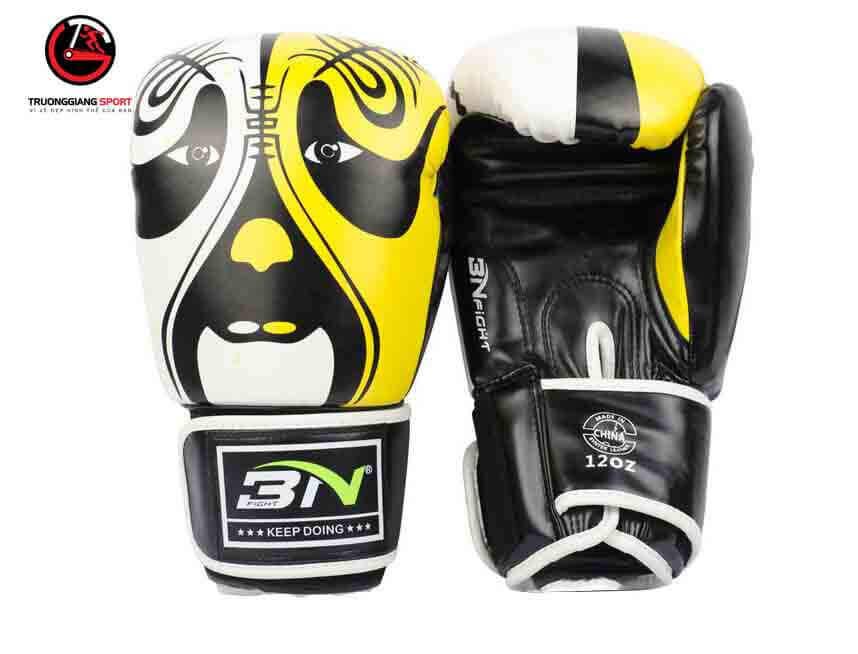 Găng tay boxing Bn new 2019 ( vàng trắng )