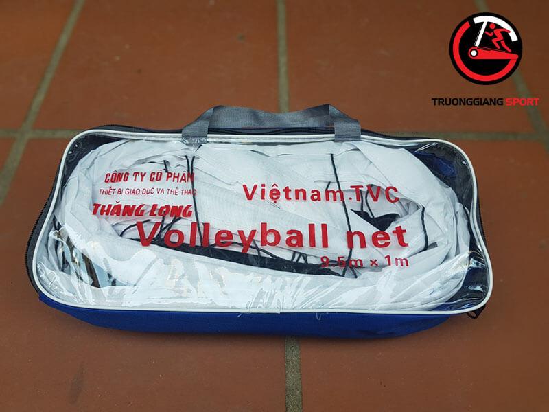 Lưới bóng chuyền có cáp Fe bọc PVC Thăng Long