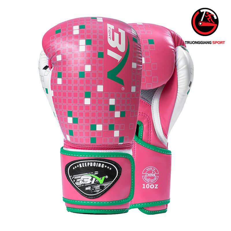 Găng tay boxing chính hãng BN ( Hồng chấm bi )