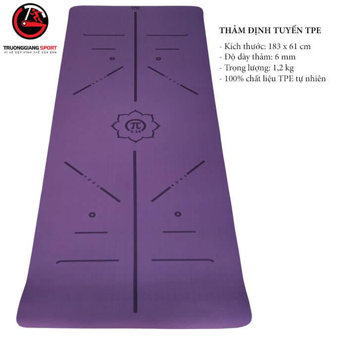 Thảm Yoga TPE 6mm 1 lớp Định Tuyến